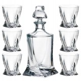 Whisky set 1+6 Crystalite Bohemia Quadro