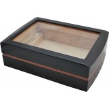 Humidor Black Leather